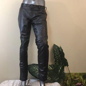Black leather pants, size large
